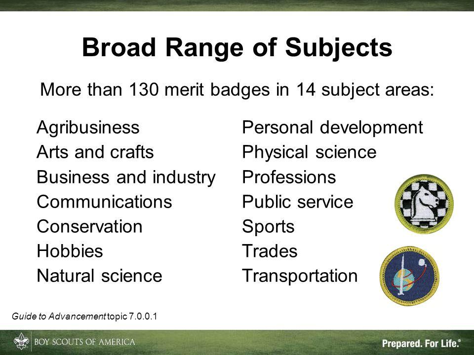 Broad Range of Subjects