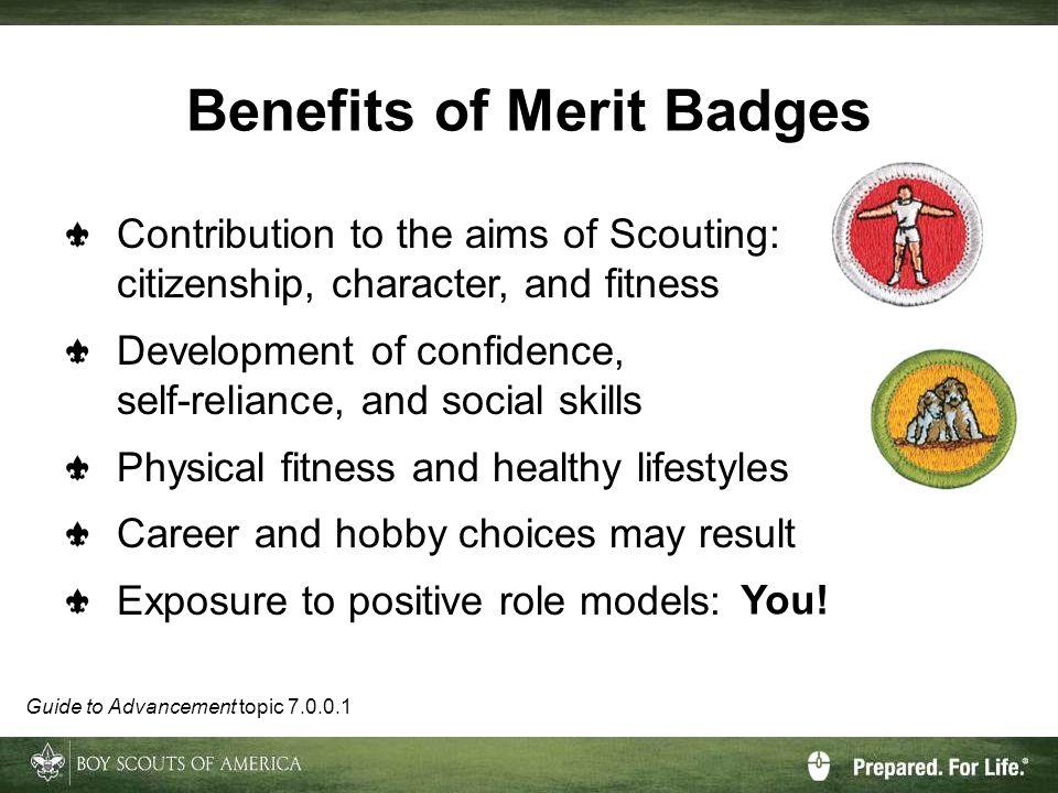 Benefits of Merit Badges