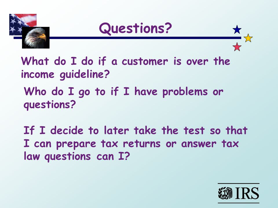 What do I do if a customer is over the income guideline