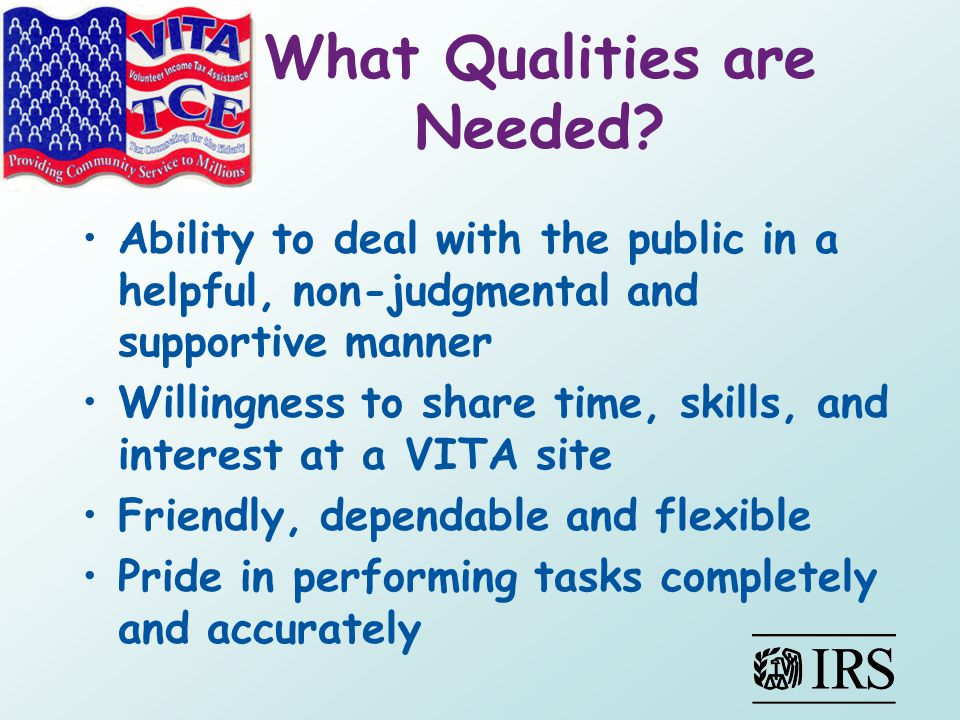 What Qualities are Needed