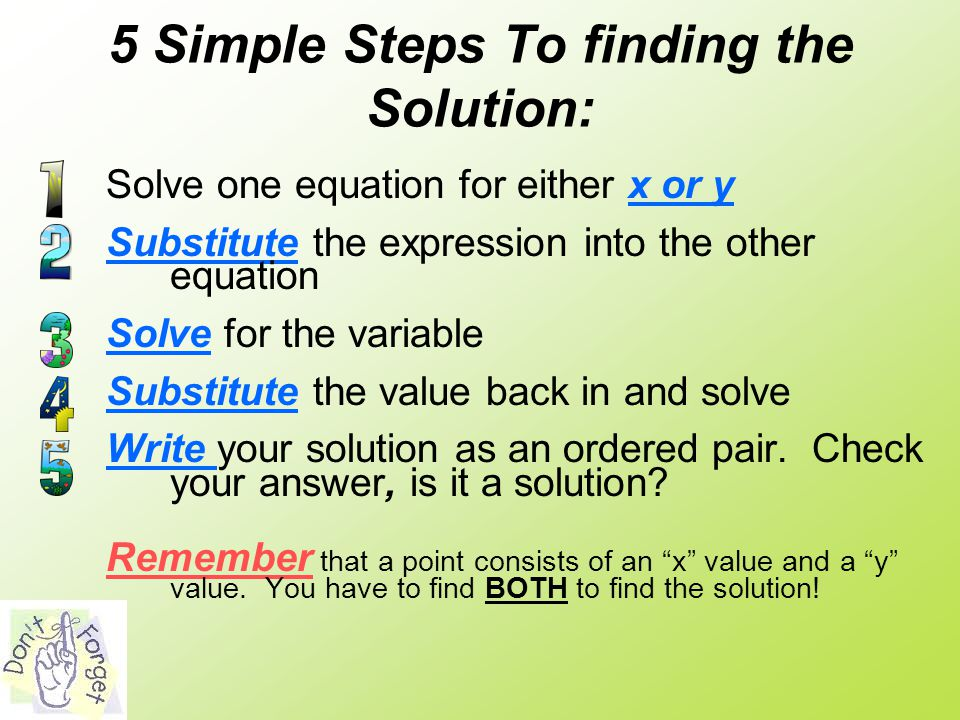 5 Simple Steps To finding the Solution: