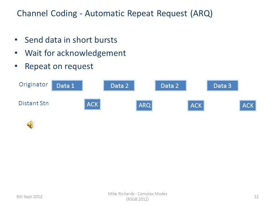 Channel Coding - Automatic Repeat Request (ARQ)
