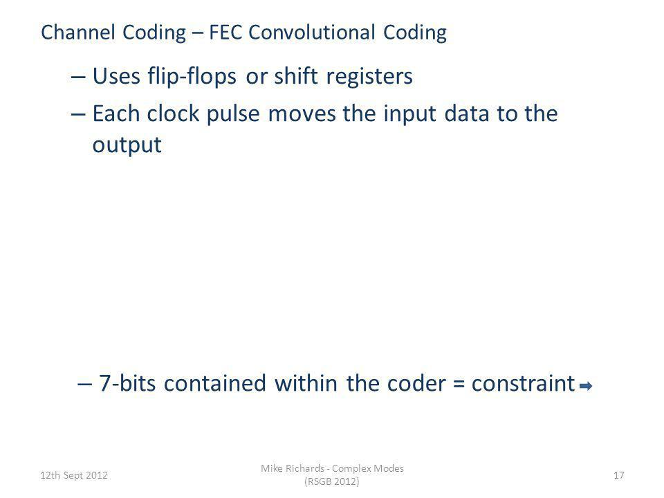 Channel Coding – FEC Convolutional Coding