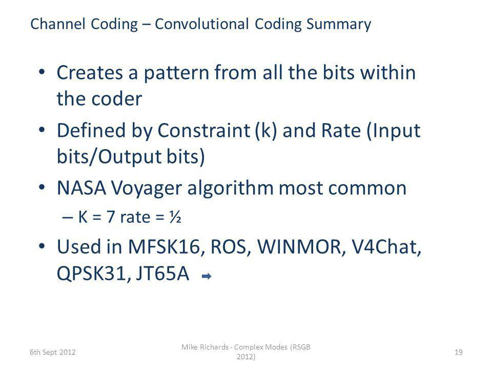 Channel Coding – Convolutional Coding Summary