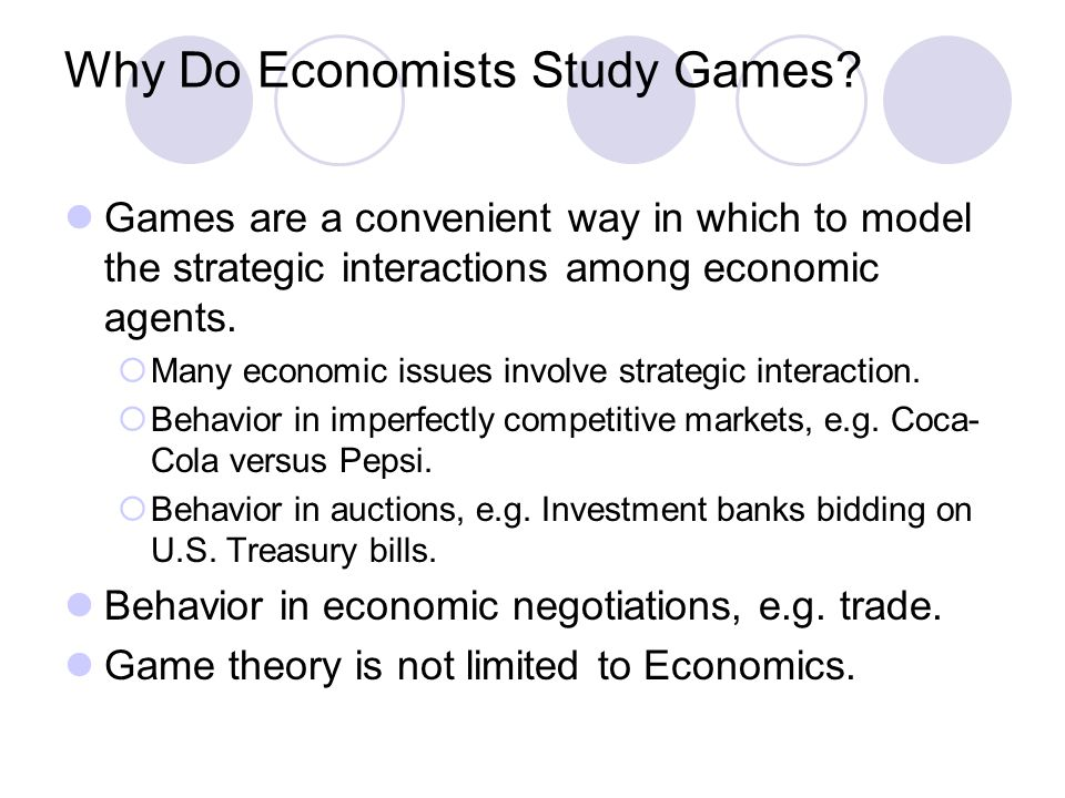 Why Do Economists Study Games