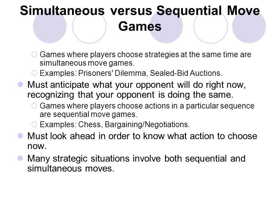 Simultaneous versus Sequential Move Games