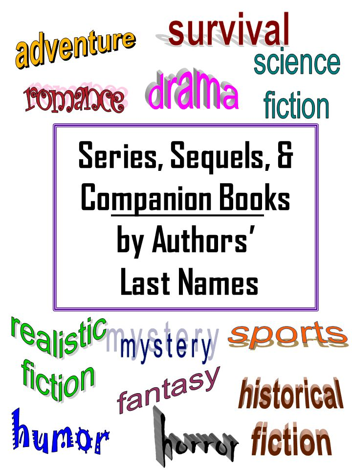 Series, Sequels, & Companion Books by Authors' Last Names