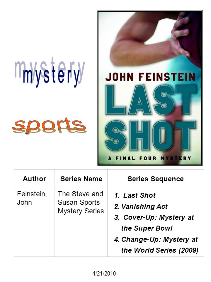 mystery sports Author Series Name Series Sequence Feinstein, John