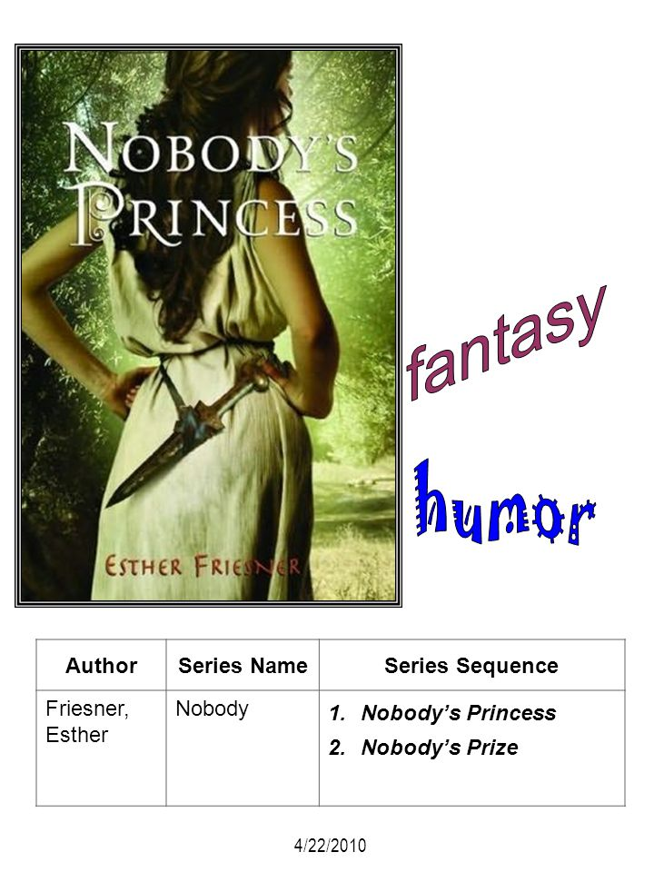 fantasy humor Author Series Name Series Sequence Friesner, Esther