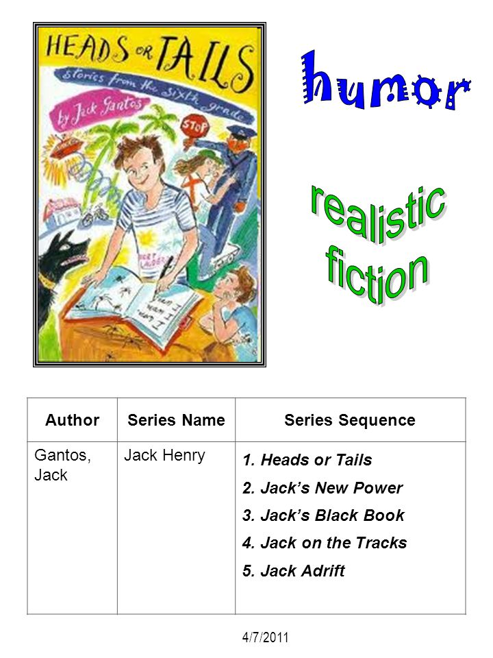 humor realistic fiction Author Series Name Series Sequence