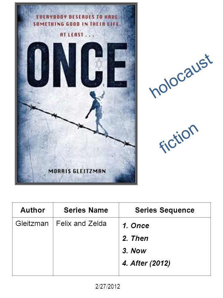 holocaust fiction Author Series Name Series Sequence Gleitzman