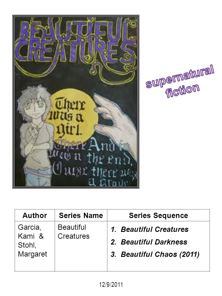 supernatural fiction Author Series Name Series Sequence Garcia, Kami &