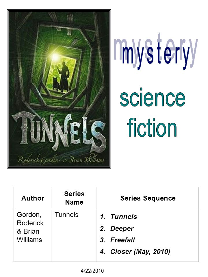 mystery science fiction Author Series Name Series Sequence