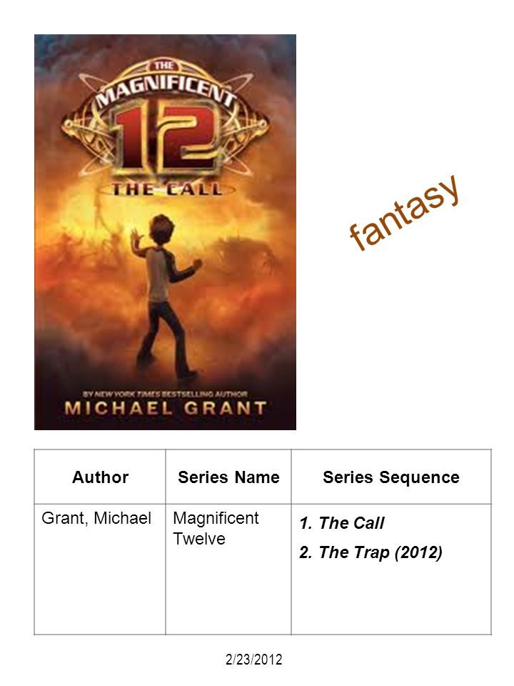 fantasy Author Series Name Series Sequence Grant, Michael