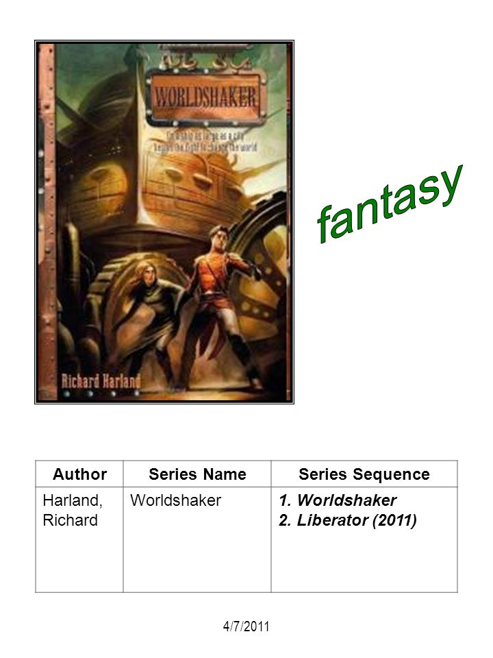 fantasy Author Series Name Series Sequence Harland, Richard