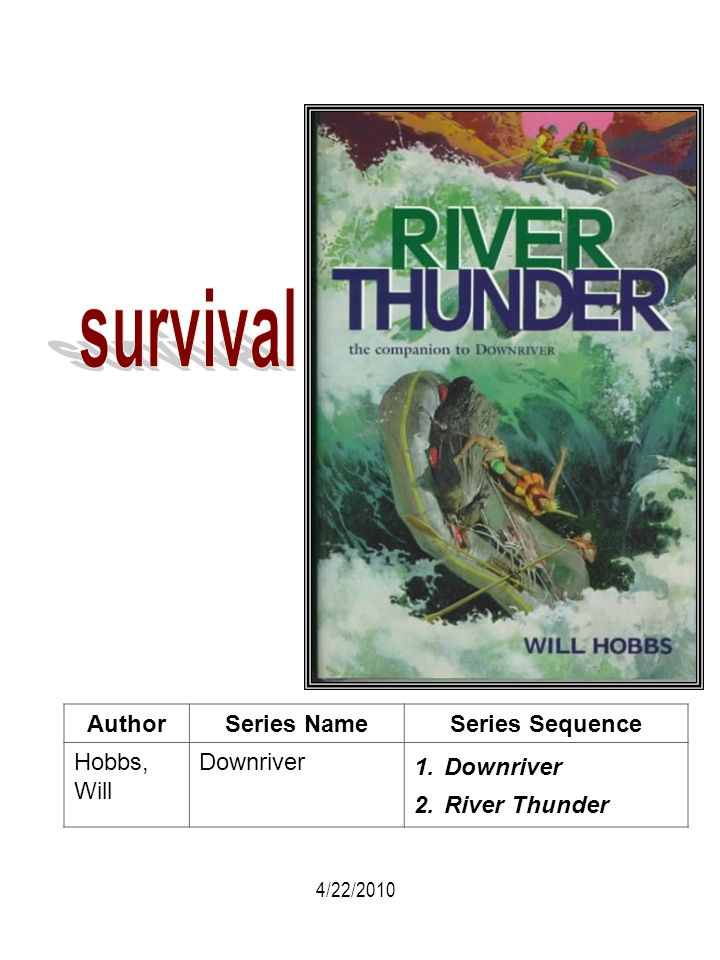 survival Author Series Name Series Sequence Hobbs, Will Downriver