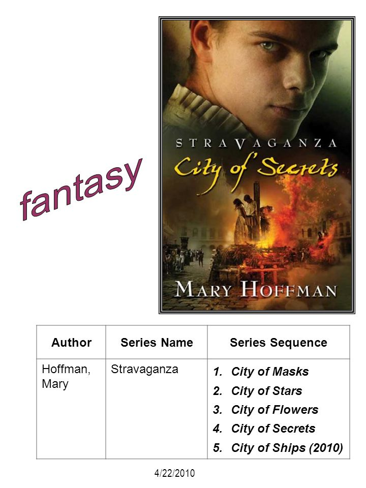 fantasy Author Series Name Series Sequence Hoffman, Mary Stravaganza