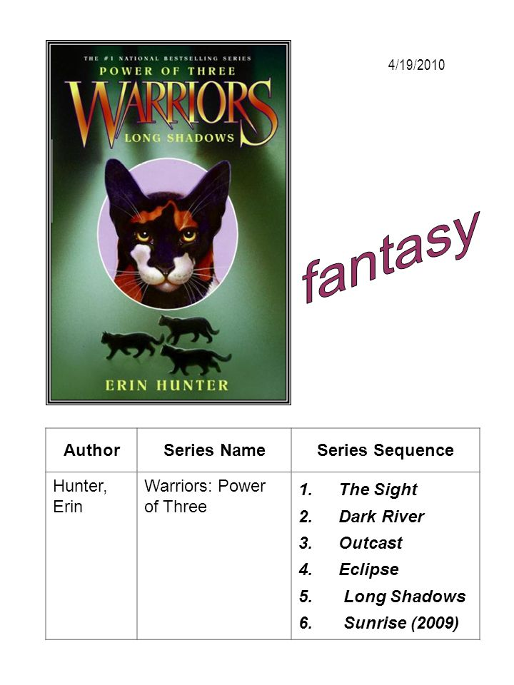 fantasy Author Series Name Series Sequence Hunter, Erin