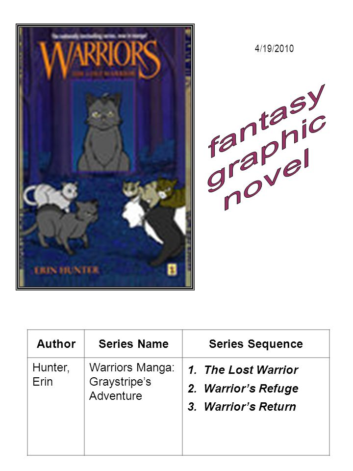fantasy graphic novel Author Series Name Series Sequence Hunter, Erin