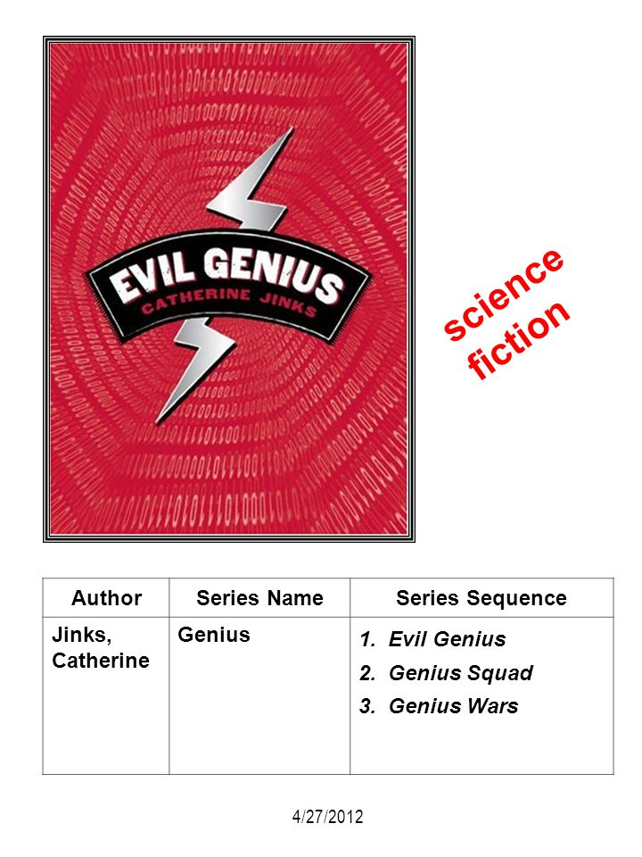 science fiction Author Series Name Series Sequence Jinks, Catherine