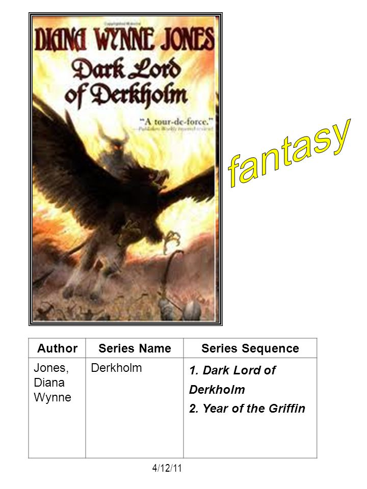 fantasy Author Series Name Series Sequence Jones, Diana Wynne Derkholm