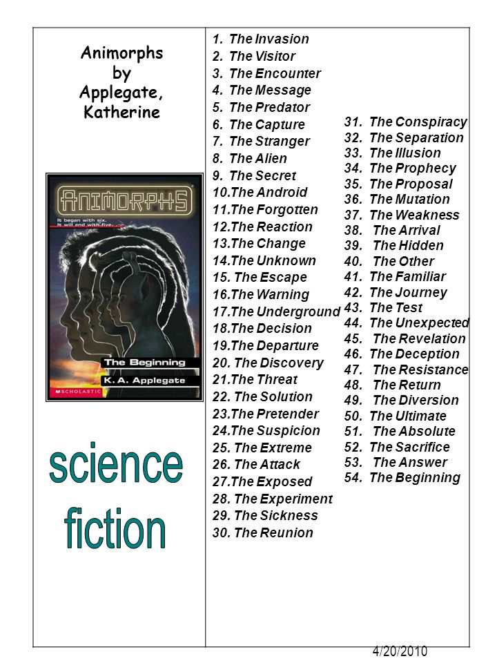 science fiction Animorphs by Applegate, Katherine 4/20/2010