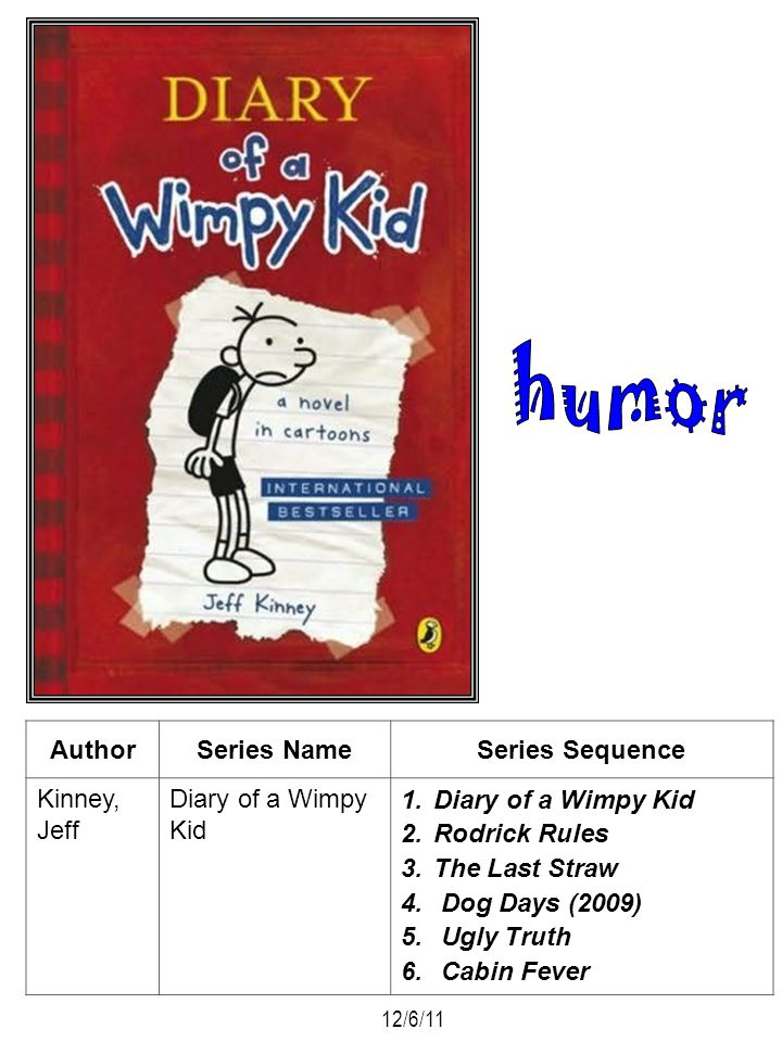 humor Author Series Name Series Sequence Kinney, Jeff