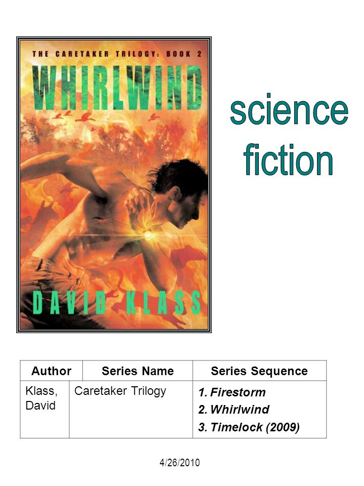 science fiction Author Series Name Series Sequence Klass, David