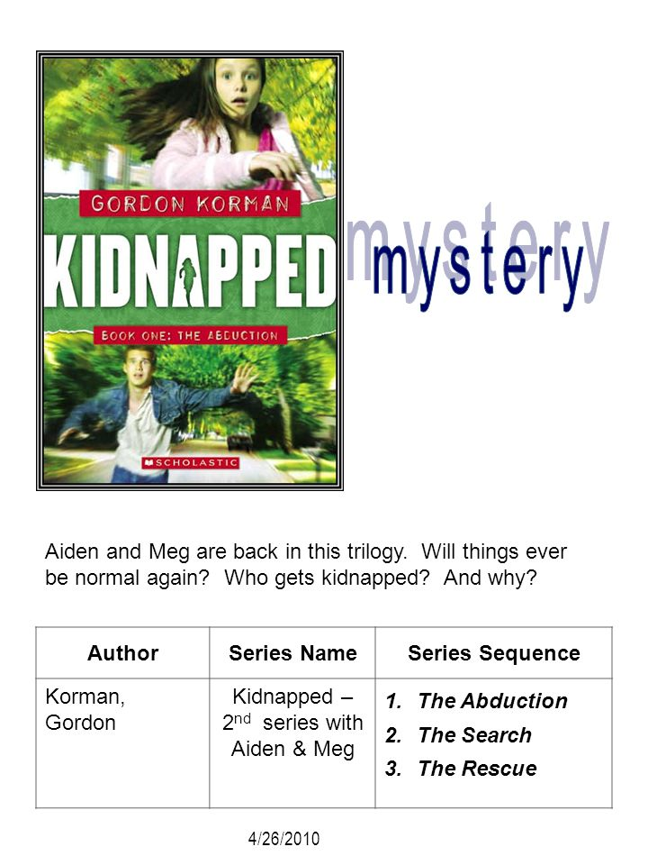 Kidnapped – 2nd series with Aiden & Meg
