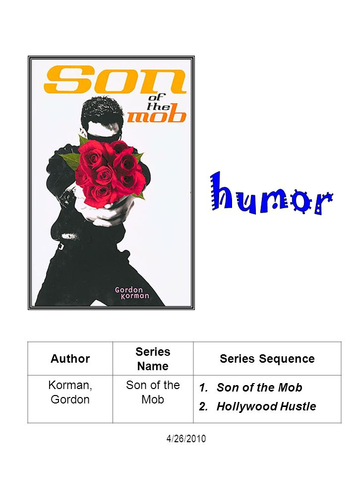 humor Author Series Name Series Sequence Korman, Gordon Son of the Mob