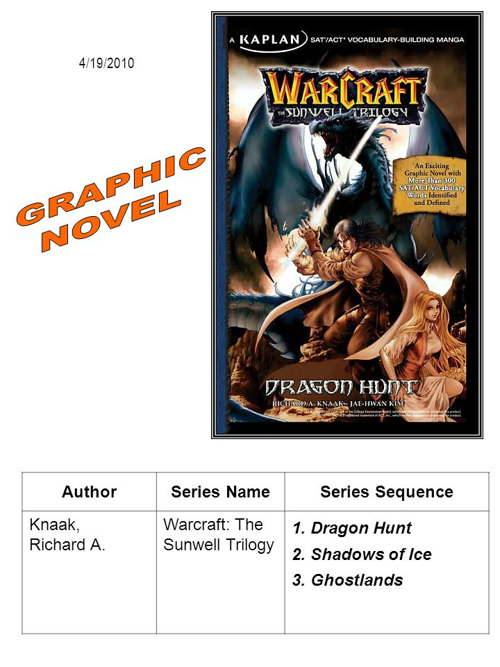 GRAPHIC NOVEL Author Series Name Series Sequence Knaak, Richard A.