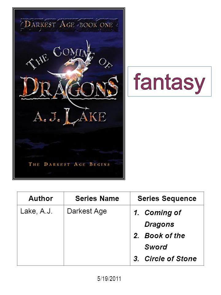 fantasy Author Series Name Series Sequence Lake, A.J. Darkest Age