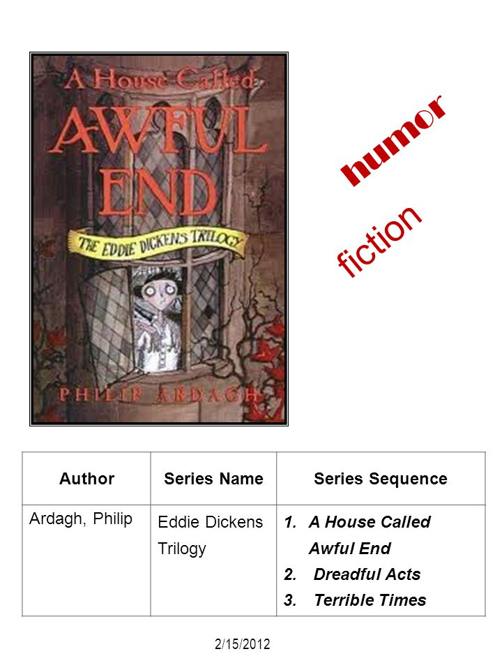 fiction humor Author Series Name Series Sequence Ardagh, Philip