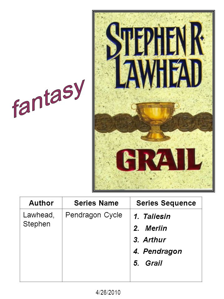 fantasy Author Series Name Series Sequence Lawhead, Stephen