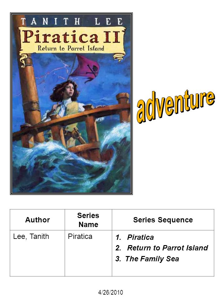 adventure Author Series Name Series Sequence Lee, Tanith Piratica