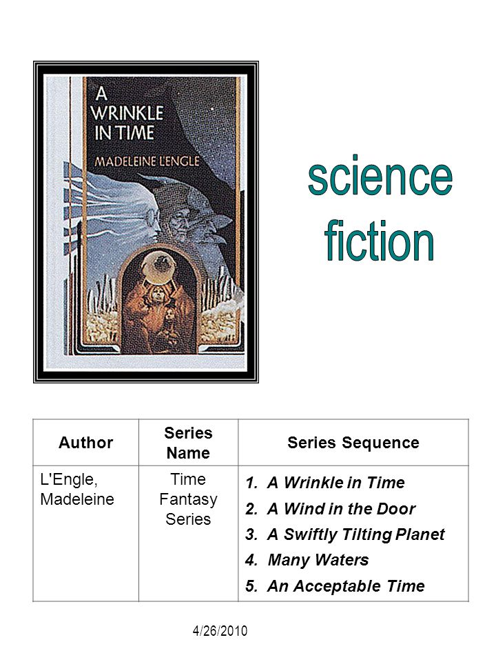 science fiction Author Series Name Series Sequence L Engle, Madeleine
