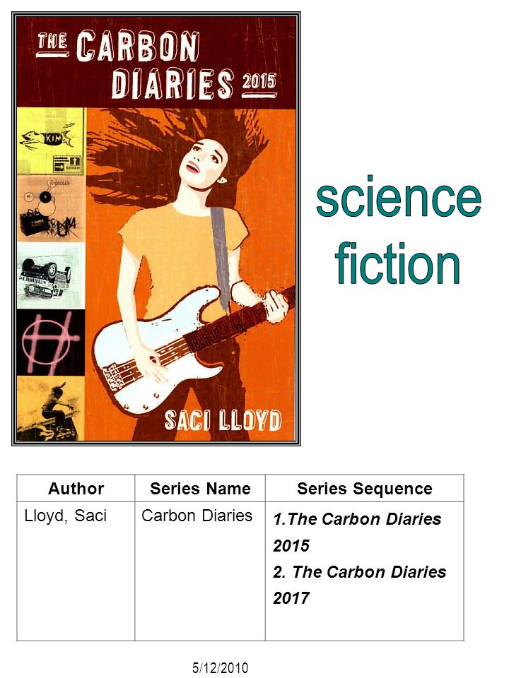 science fiction Author Series Name Series Sequence Lloyd, Saci