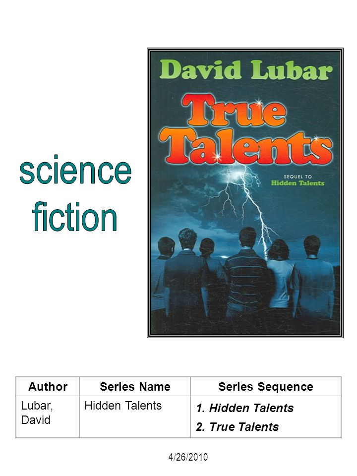 science fiction Author Series Name Series Sequence Lubar, David