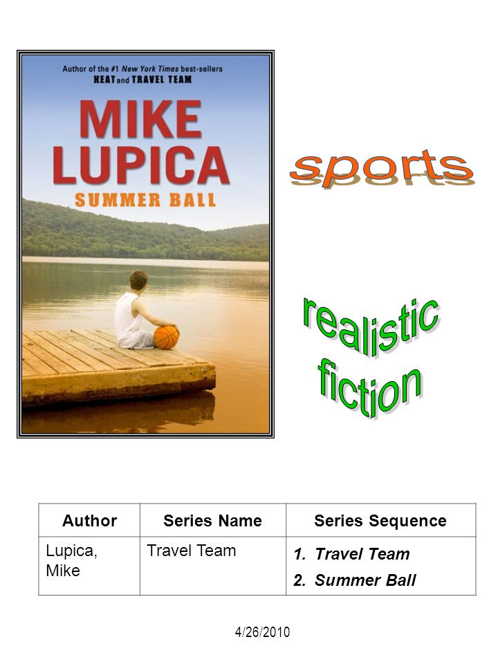 sports realistic fiction Author Series Name Series Sequence