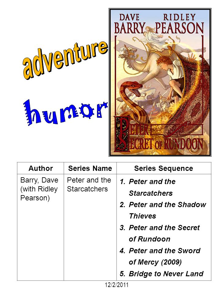adventure humor Author Series Name Series Sequence