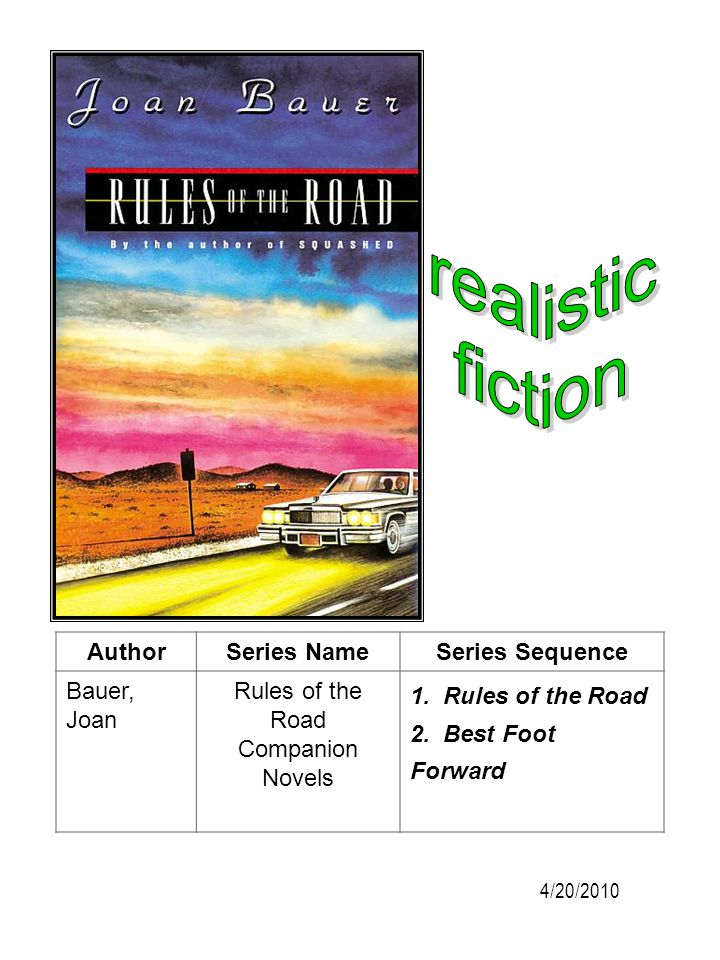 realistic fiction Author Series Name Series Sequence Bauer, Joan