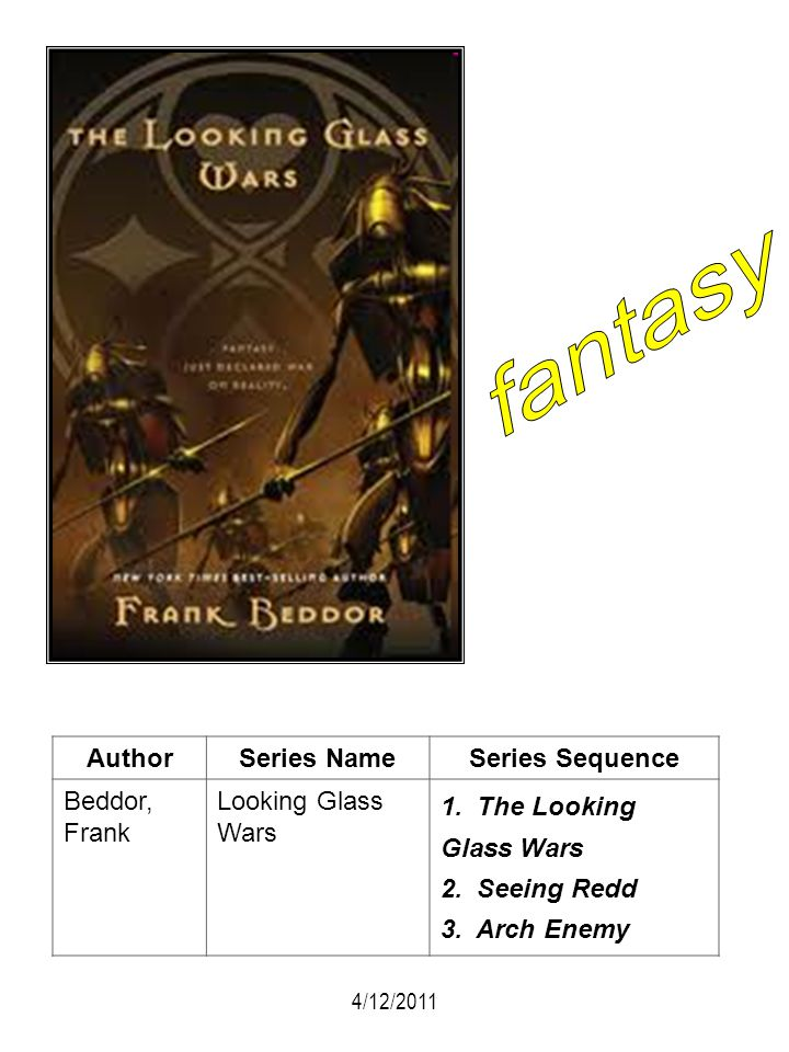 fantasy Author Series Name Series Sequence Beddor, Frank