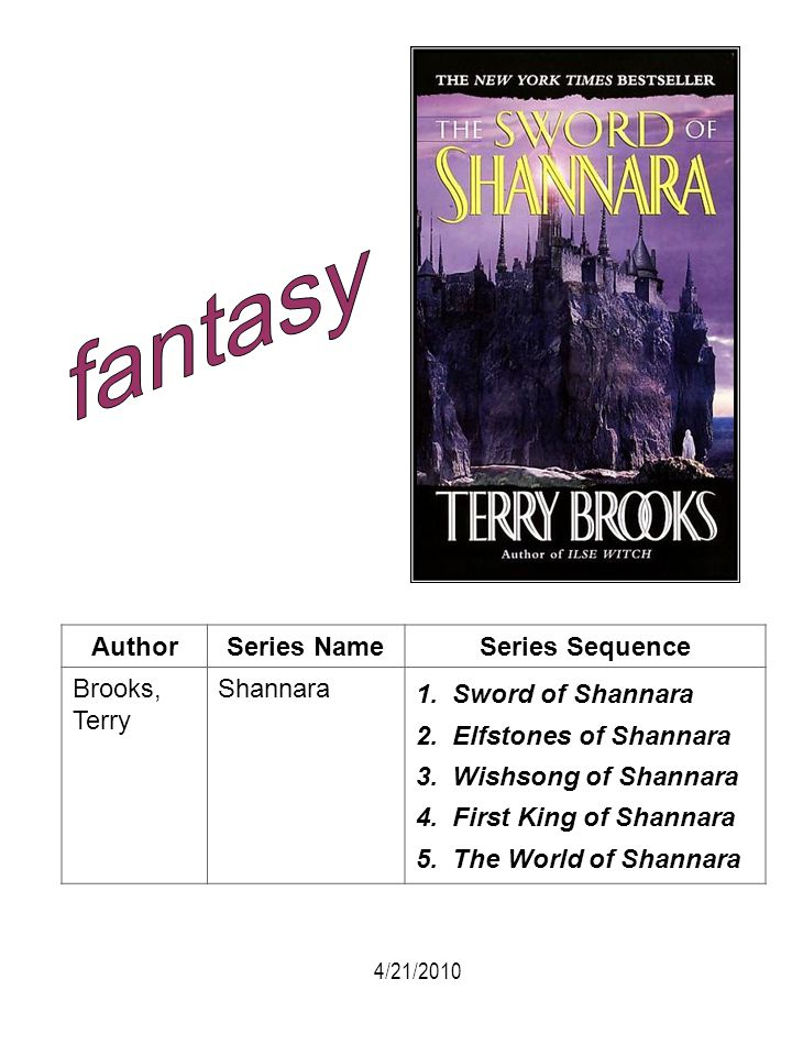 fantasy Author Series Name Series Sequence Brooks, Terry Shannara