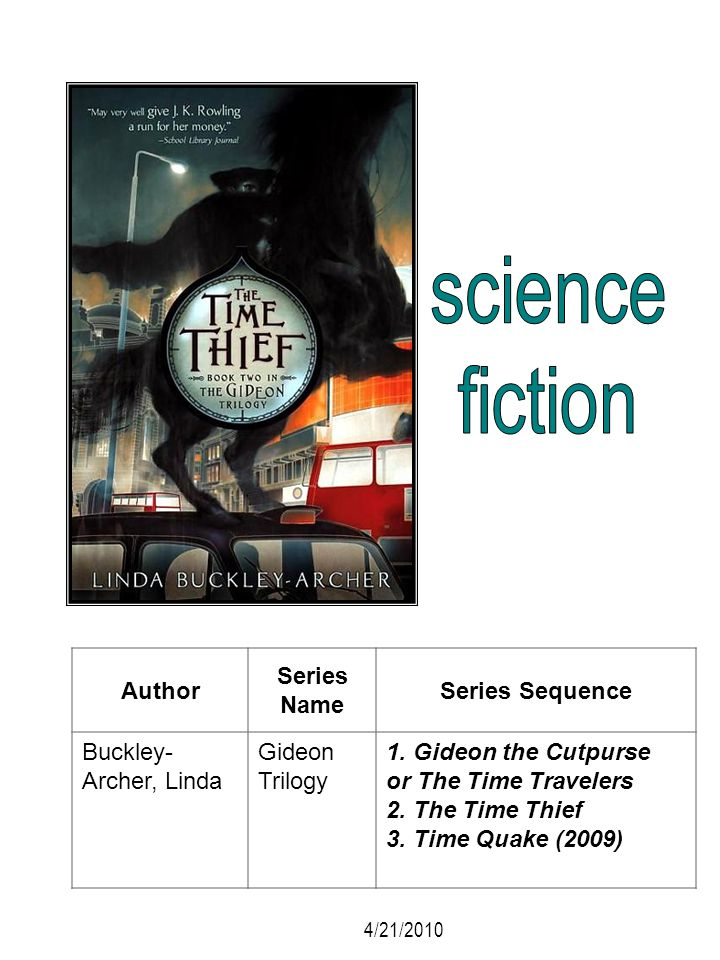 science fiction Author Series Name Series Sequence