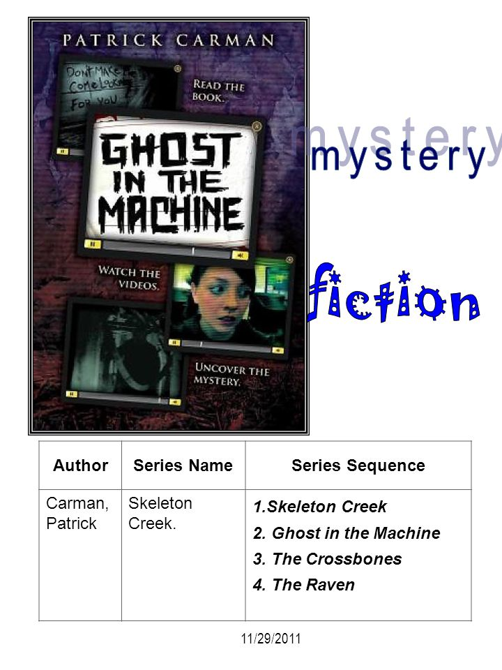 mystery fiction Author Series Name Series Sequence Carman, Patrick