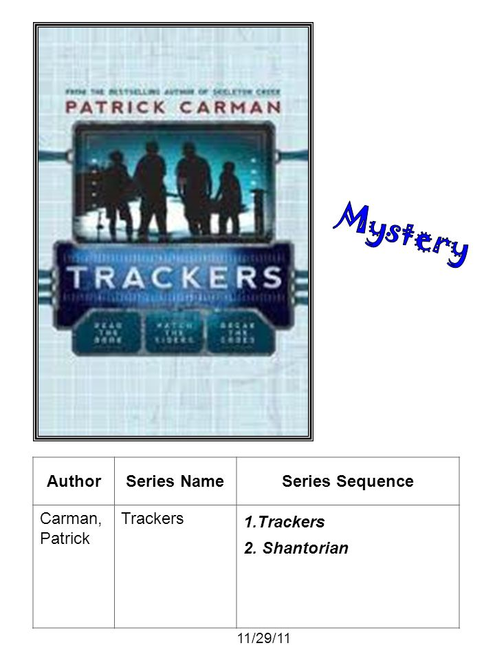Mystery Author Series Name Series Sequence Carman, Patrick Trackers
