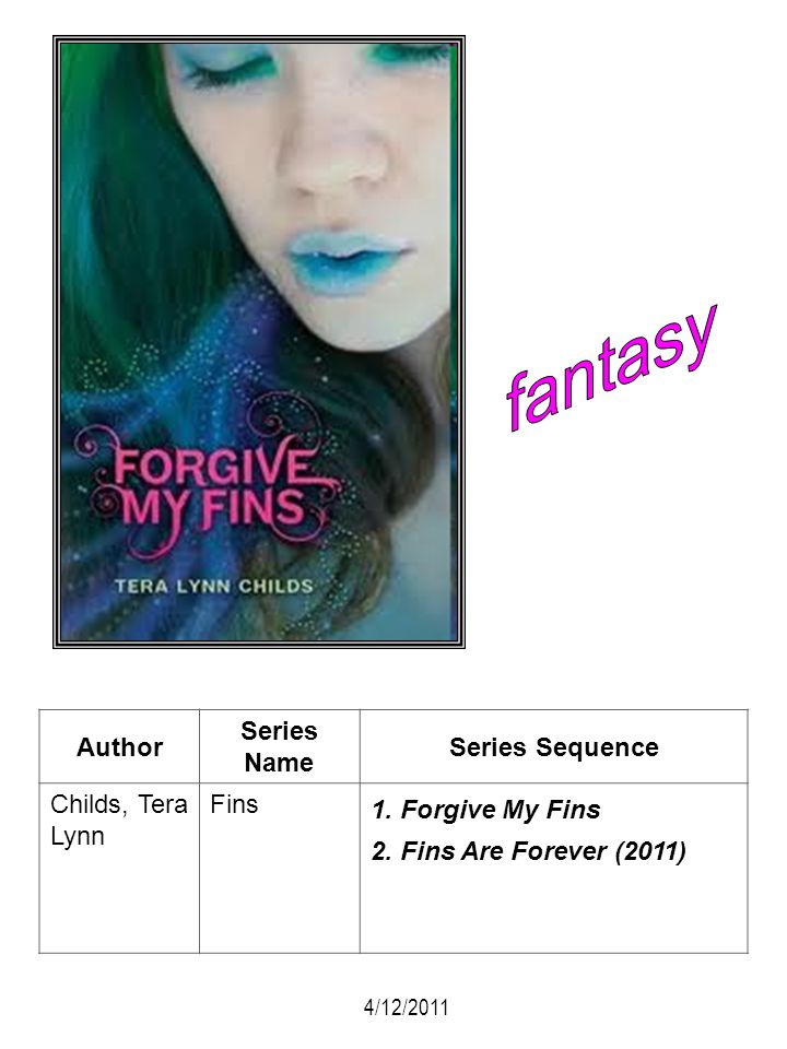 fantasy Author Series Name Series Sequence Childs, Tera Lynn Fins