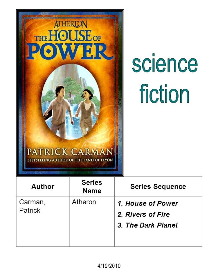 science fiction Author Series Name Series Sequence Carman, Patrick