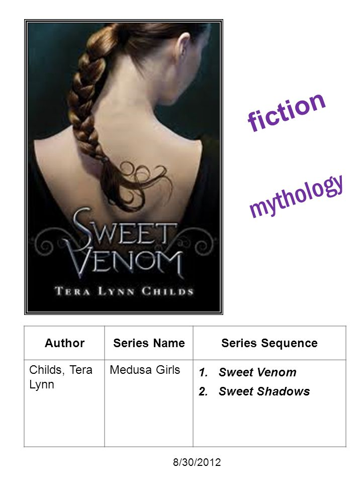 fiction mythology Author Series Name Series Sequence Childs, Tera Lynn