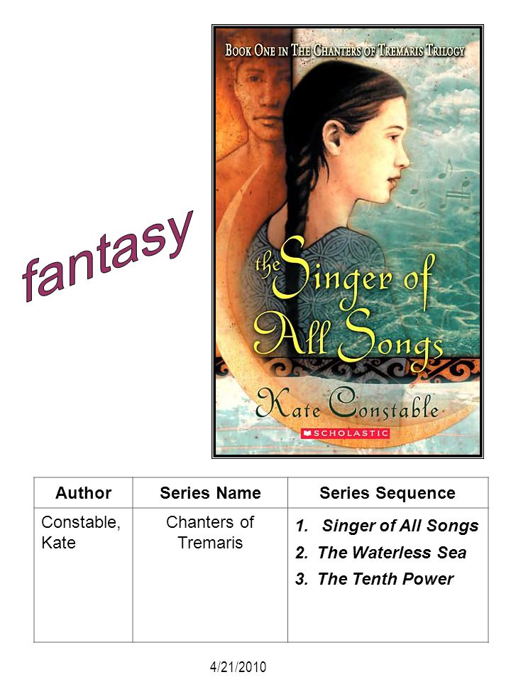 fantasy Author Series Name Series Sequence Constable, Kate